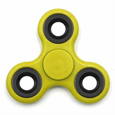 Fidget hand spinner geel/zwart