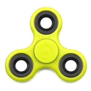 Fidget hand spinner neon geel/zwart