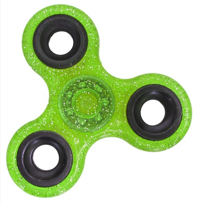 Fidget spinner glitters lime groen