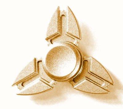 Fidget spinner metaal goud (in luxe doosje)