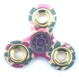 Fidget spinner roze/groen/paars
