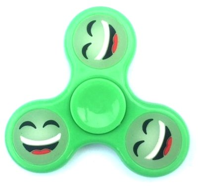Fidget spinner smiley emoticon groen