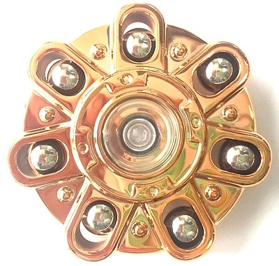 Ufo spinner metallic gold