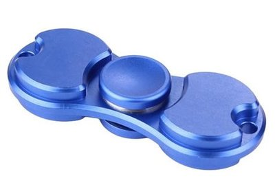 Duo fidget metalen spinner blauw