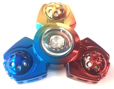 Fidget spinner 3 blade rainbow