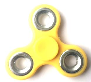 Fidget hand spinner geel + zilver