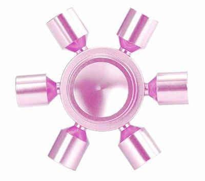 Fidget hand spinner 'sun' metaal roze