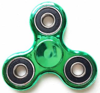 fidget spinner metallic groen