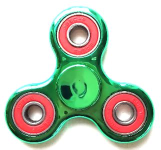 fidget spinner metallic groen rood